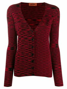 Missoni abstract knit cardigan - Red