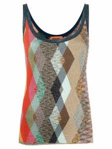 Missoni argyle glitter vest top - NEUTRALS