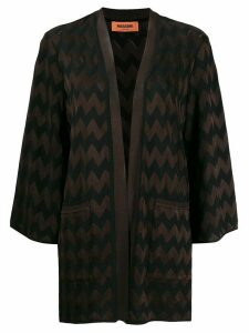 Missoni chevron pattern cardigan - Brown