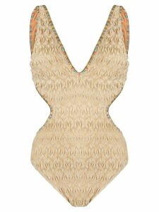 Missoni Mare textured v-neck one piece - NEUTRALS