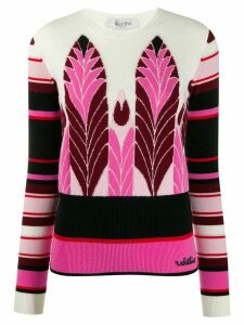 Valentino wool blend jacquard jumper - White