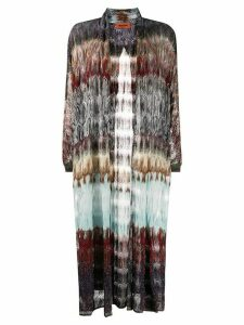 Missoni sheer open-front cardigan - PURPLE