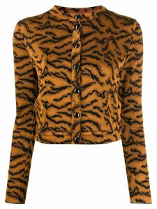 Missoni tiger pattern cardigan - Brown