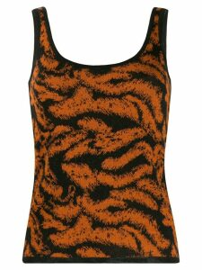 Missoni embroidered knitted tank top - ORANGE