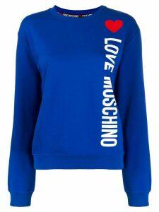 Love Moschino logo print crewneck sweatshirt - Blue