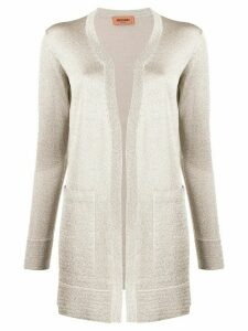 Missoni long-line metallic knit cardigan - NEUTRALS