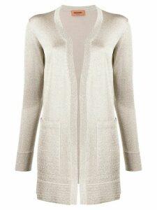 Missoni long-line metallic knit cardigan - NEUTRALS