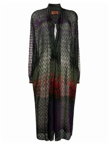 Missoni glitter long cardigan - PURPLE