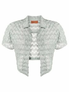 Missoni Mare sheer cropped over shirt - SILVER