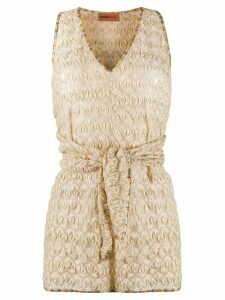 Missoni Mare contrast trimmed crochet top - NEUTRALS