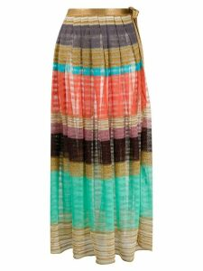 Missoni Mare striped knitted maxi skirt - GOLD
