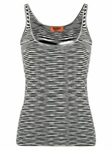 Missoni abstract knit vest top - Black