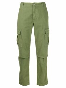 P.A.R.O.S.H. high-waisted cargo trousers - Green