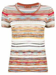 Missoni striped crochet-knit T-shirt - Red