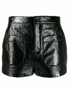 Saint Laurent shiny shorts - Black