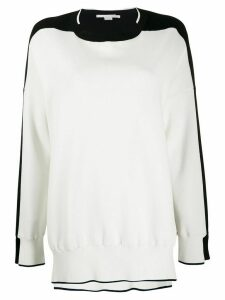 Stella McCartney two-tone jumper - White