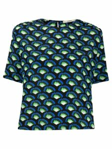 Odeeh all over print blouse - Blue