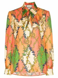Gucci GG diamond print blouse - ORANGE