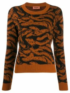 Missoni embroidered fitted jumper - ORANGE