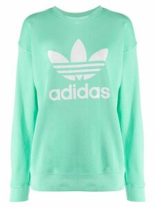 adidas Trefoil-print cotton sweatshirt - Green