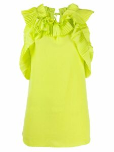 P.A.R.O.S.H. sleeveless ruffled tank top - Yellow