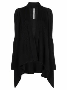 Rick Owens fisherman wrap cardigan - Black