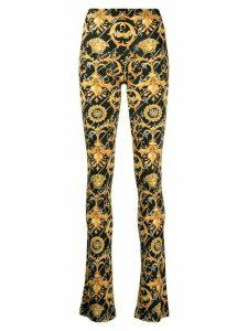 Versace Barocco Signature print flared trousers - Black