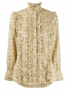 Etro high neck shirt - NEUTRALS
