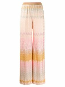 Missoni embroidered wide-leg trousers - PINK