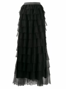 Fabiana Filippi long ruffled skirt - Black