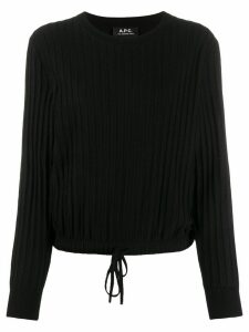 A.P.C. ribbed drawstring-hem jumper - Black