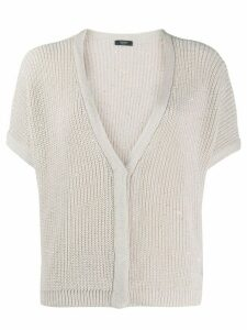 Peserico sequinned V-neck cardigan - NEUTRALS