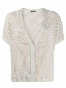 Peserico sequinned V-neck cardigan - NEUTRALS