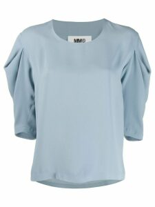 Mm6 Maison Margiela puff sleeve top - Blue