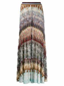 Missoni wide-leg embroidered trousers - PURPLE
