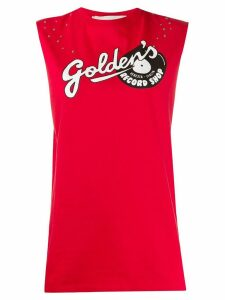 Golden Goose logo tank top - Red