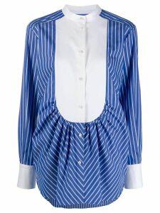 MSGM striped bib shirt - Blue