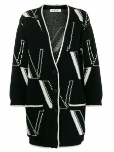 Valentino Double VLOGO V-neck cardigan - Black