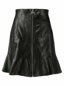 Pinko zipped faux-leather skirt - Black