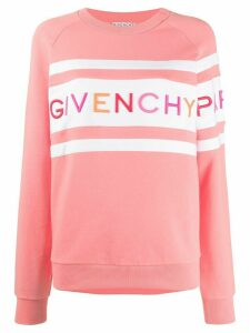 Givenchy embroidered logo sweatshirt - PINK