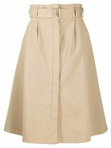 P.A.R.O.S.H. Cyber a-line skirt - NEUTRALS