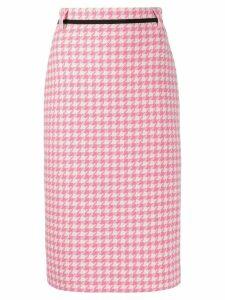 MSGM houndstooth print pencil skirt - PINK