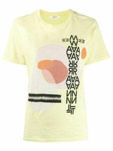 Isabel Marant Étoile graphic jersey T-shirt - Yellow