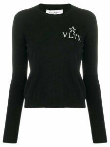 Valentino jacquard V logo jumper - Black