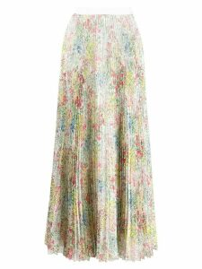 Giambattista Valli chiffon pleated skirt - White