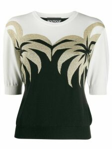 Boutique Moschino palm tree knitted top - Black