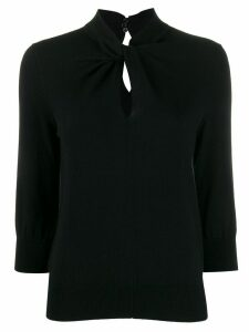 Erdem Rumer twist neck jumper - Black