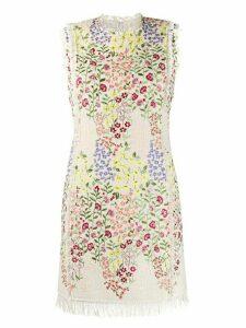 Giambattista Valli floral embroidery dress - NEUTRALS