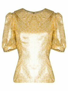 Shrimps Owen metallic lamé blouse - GOLD