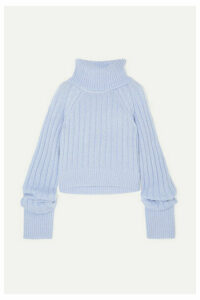 Matthew Adams Dolan - Oversized Mohair-blend Turtleneck Sweater - Light blue